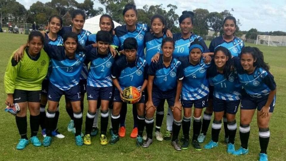 Nitisha Negi (back row, third from right) died in Adelaide during Pacific School Games