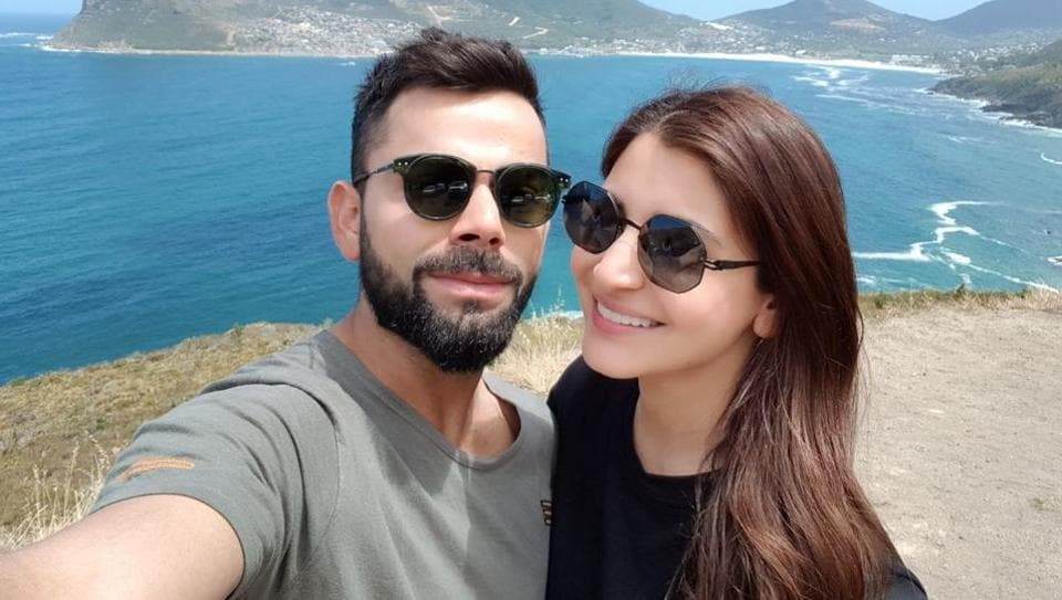 Virat Kohli and Anushka Sharma are in South Africa, where India will play three Tests, six ODIs and three T20s.