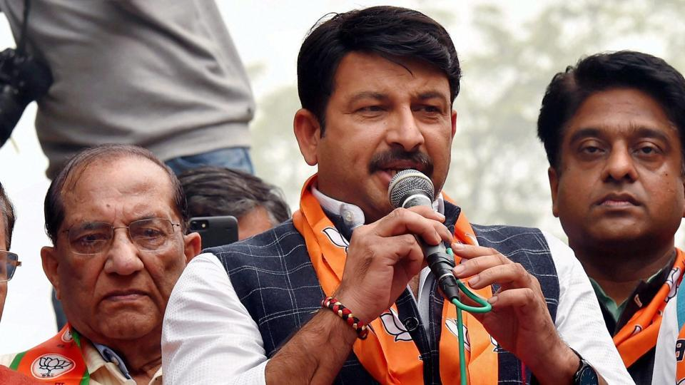 Delhi BJP president Manoj Tiwari.
