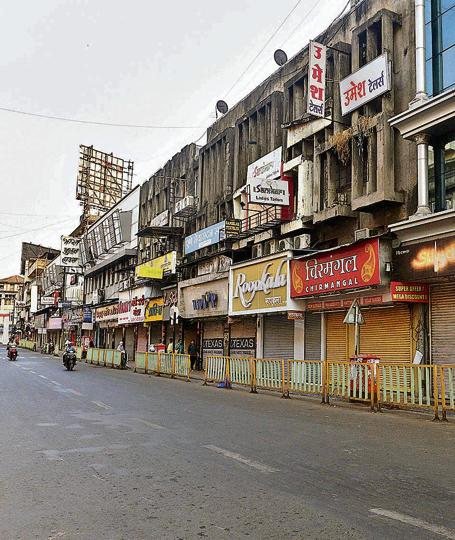 One of Pune's busiest shopping centres, Laxmi road, was completely shut down during the Maharashtra bandh on Wednesday.
