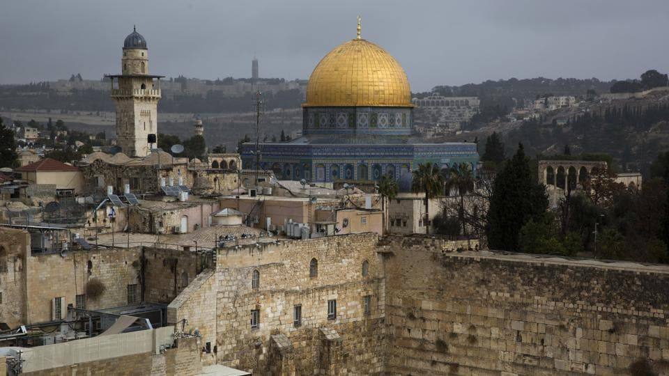 A view of the Western Wall and the Dome of the Rock, some of the holiest sites for Jews and Muslims, is seen in Jerusalem's Old City.