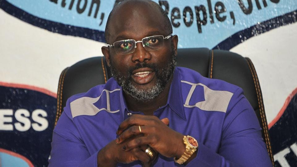 George Weah was named winner of Liberia's presidential election.