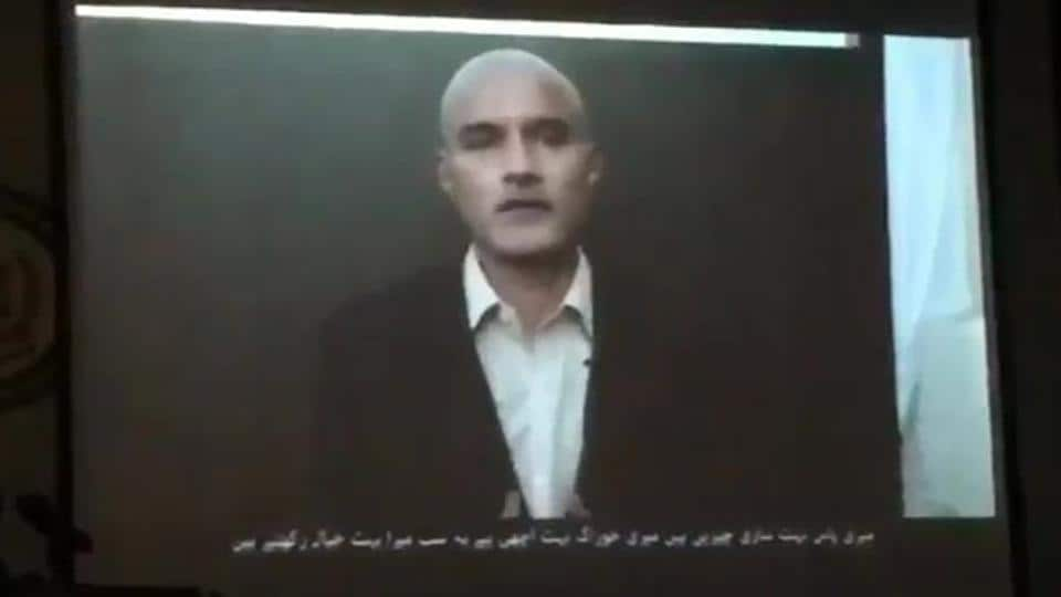 Screengrab of Indian death row prisoner Kulbhushan Jadhav from a video released on Thursday.