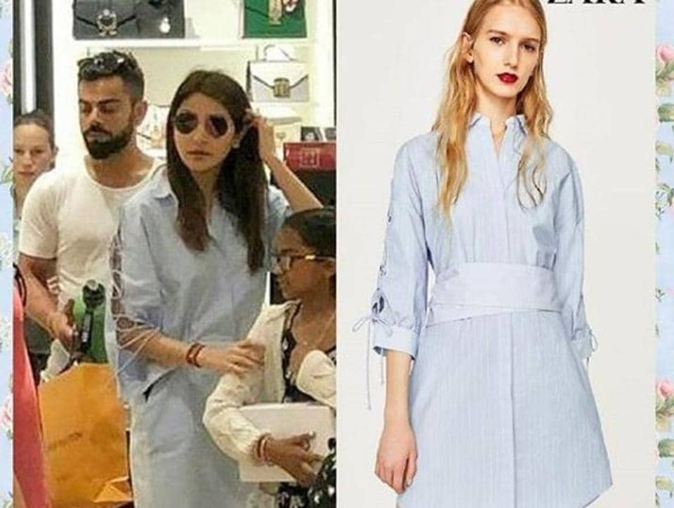 031164ba02 Don't miss Anushka Sharma in this blue dress. It screams minimalist ...