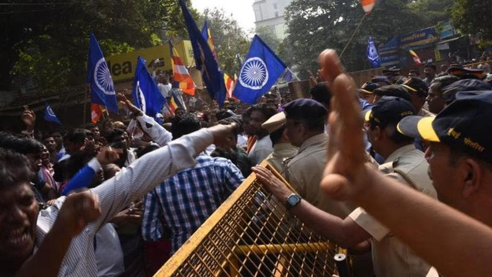 Protests turned violent in various parts of Mumbai on Wednesday.
