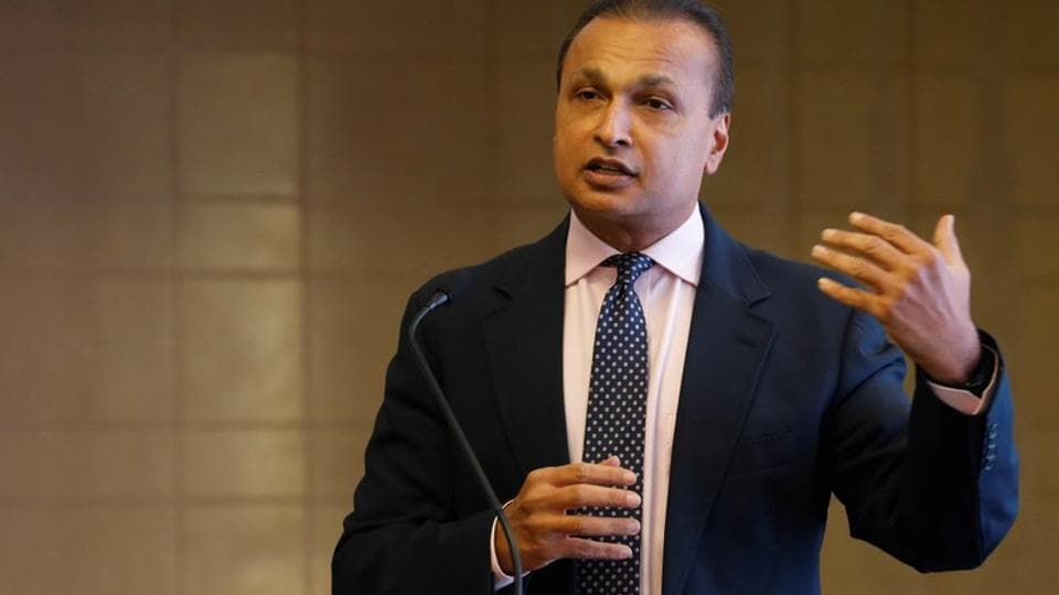 Anil Ambani, chairman of India's Reliance Communication, addresses a news conference at the company's headquarters in Mumbai, December 26, 2017.