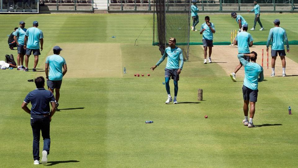 The side were hard at training at the Newlands Cricket ground at Cape Town ahead of the first Test, which begins on January 5. (AFP)