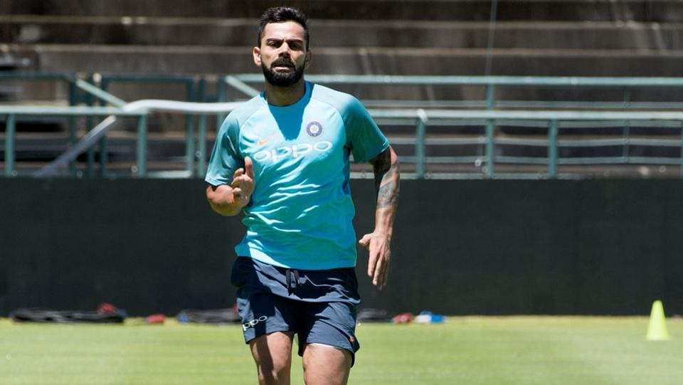 Indian cricket team captain Virat Kohli runs during a training session at the Newlands Cricket ground on January 3, 2017.  (AFP)
