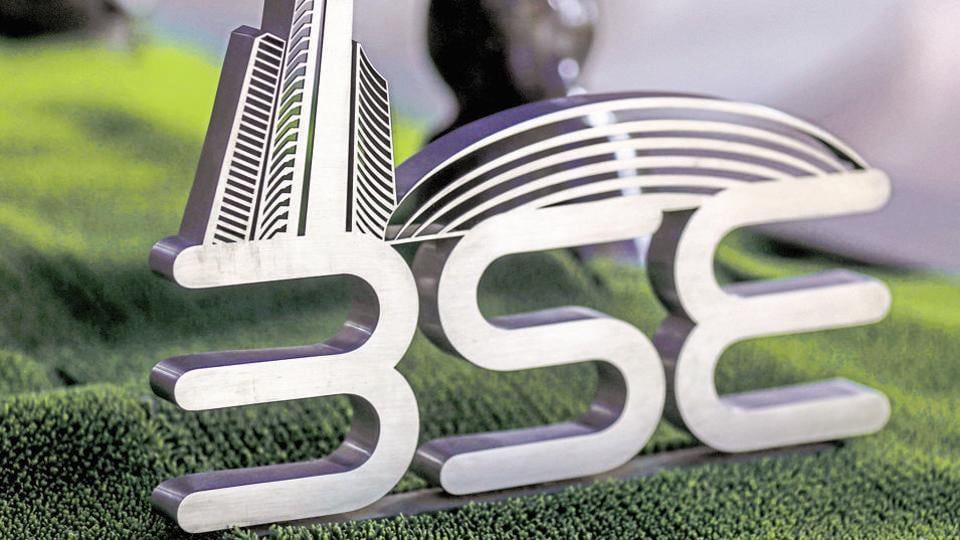 Signage for the Bombay Stock Exchange (BSE)