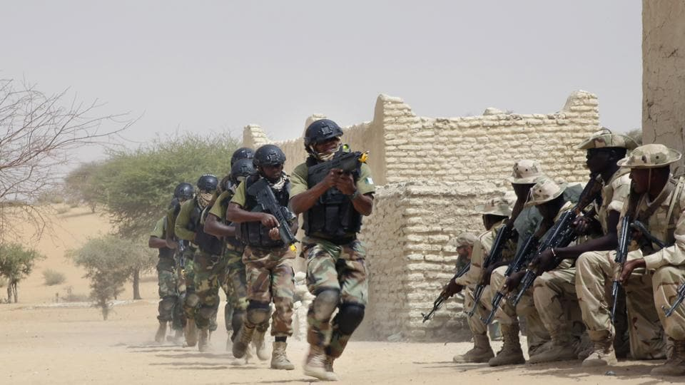 Nigerian special forces and Chadian troops participate with US advisors in the Flintlock exercise in Mao, Chad.