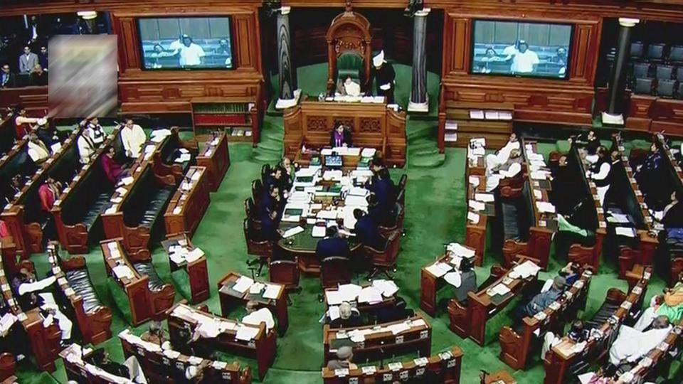 A bill to ban instant triple talaq --the uttering of talaq thrice under Muslim law-- was tabled in the Rajya Sabha on Wednesday resulting in a slugfest  between the Congress and the BJP. During today's Parliamentary session, Congress said the bill, if implemented sans amendments could harm many families.  (PTI / TV Grab)