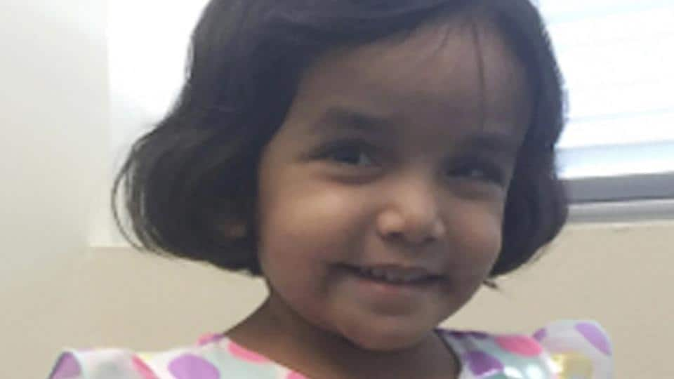 This undated photo provided by the Richardson Texas Police Department shows 3-year-old Sherin Mathews.