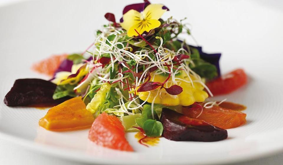 Quilon salad at Quilon in London, where chef Sriram Aylur cooks excellent food