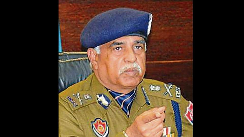 DGP Suresh Arora at a press conference in Chandigarh on Thursday.