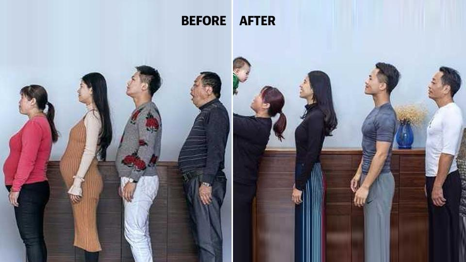 Flab to fab: Chinese family documents incredible 6-month ...