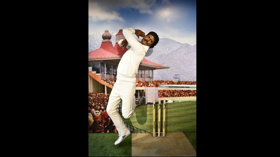 "A wax figure of former Indian cricketer Kapil Dev. Madame Tussauds has been a key attraction in major cities through Europe and America. If the London museum bests others in numbers – it has more than 300 wax models – the Las Vegas one, as its website says, is the ""top thing to do on the Las Vegas Strip."" (Sanchit Khanna / HT Photo)"