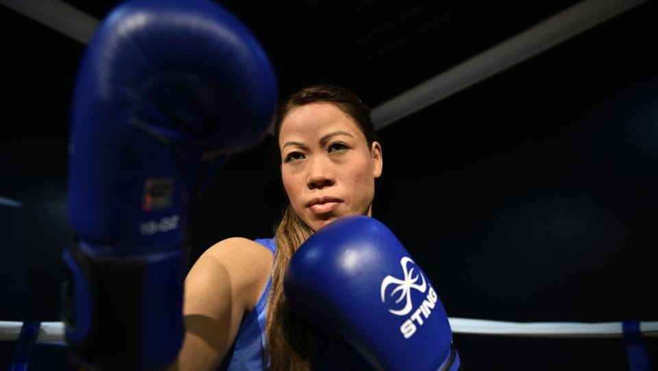 A wax figure of Olympic boxer Mary Kom. Madame Tussauds wax museum is open all seven days with tickets priced at Rs 960 for adults and Rs 760 for children. (Sanchit Khanna / HT Photo)