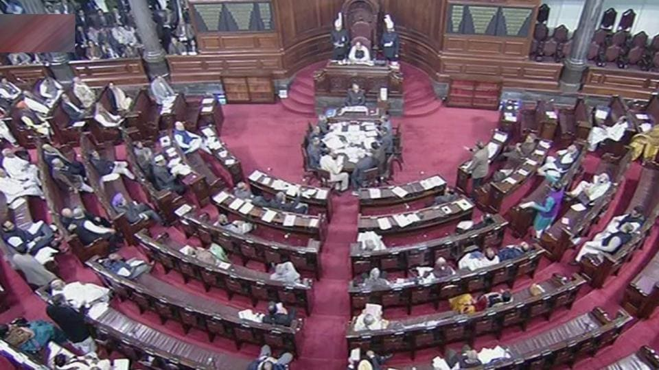 A scene in the Rajya Sabha in New Delhi. Jharna Das Baidya of the CPI(M) and Sarojini Hembram of the BJD separately said they lost their luggage while travelling in long-distance trains