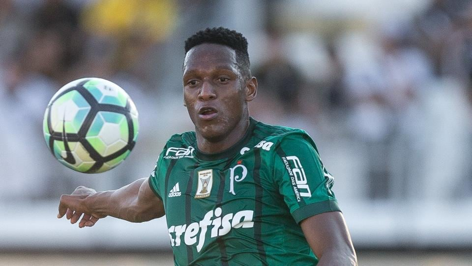 Fc barcelona set to sign colombian centre back yerry mina say fc barcelona is pursuing yerry mina from palmeiras as a replacement for javier mascherano who stopboris Choice Image