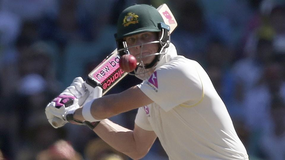 Steve Smith in action on Day 2 of the fifth Ashes Test between Australia and England in Sydney.