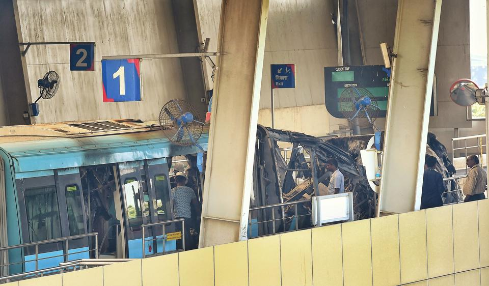 A major fire gutted two coaches of monorail at the Mysore Colony Mono Rail Station in Mumbai on November 9.