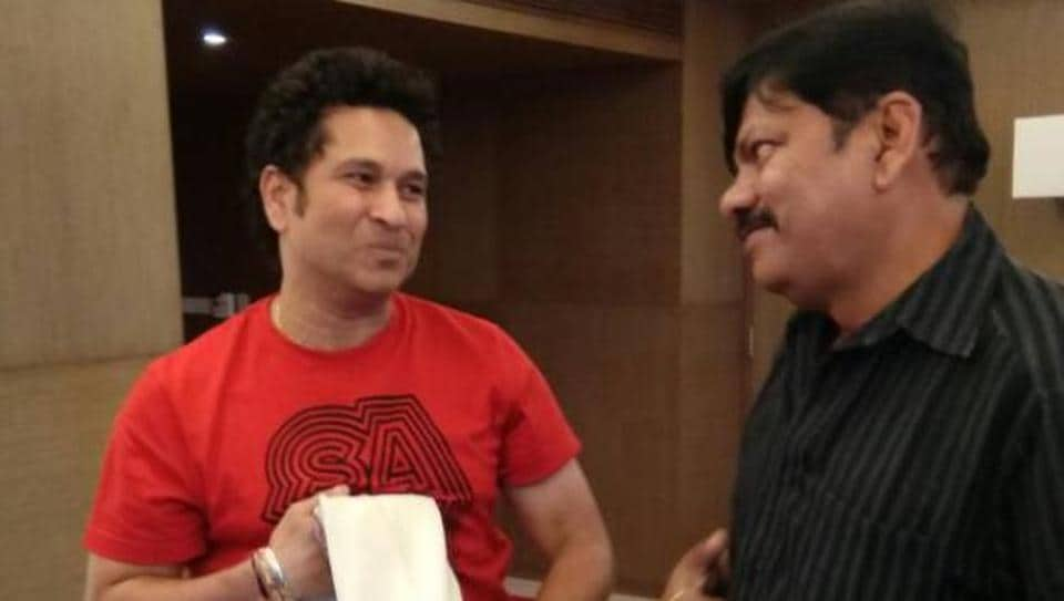 Aditya Verma, pictured here with Sachin Tendulkar, argued his own case in front of a Supreme Court bench and emerged victorious.
