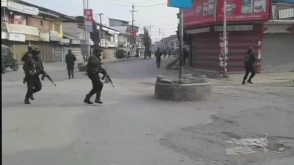 The powerful IED explosion ripped through the Sopore market area, which was immediately cordoned off, police said.