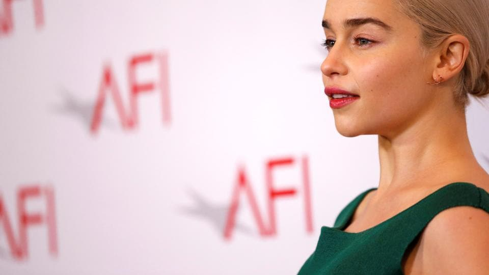 Actor Emilia Clarke poses at the AFI AWARDS 2017 luncheon.