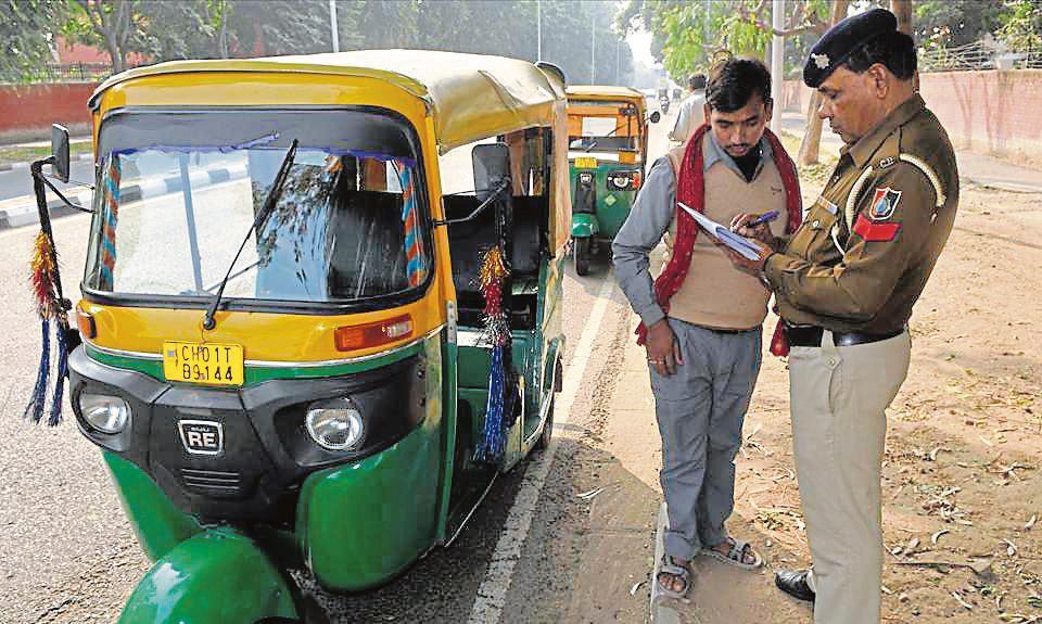 Chandigarh,Autos sans police verification,police verification