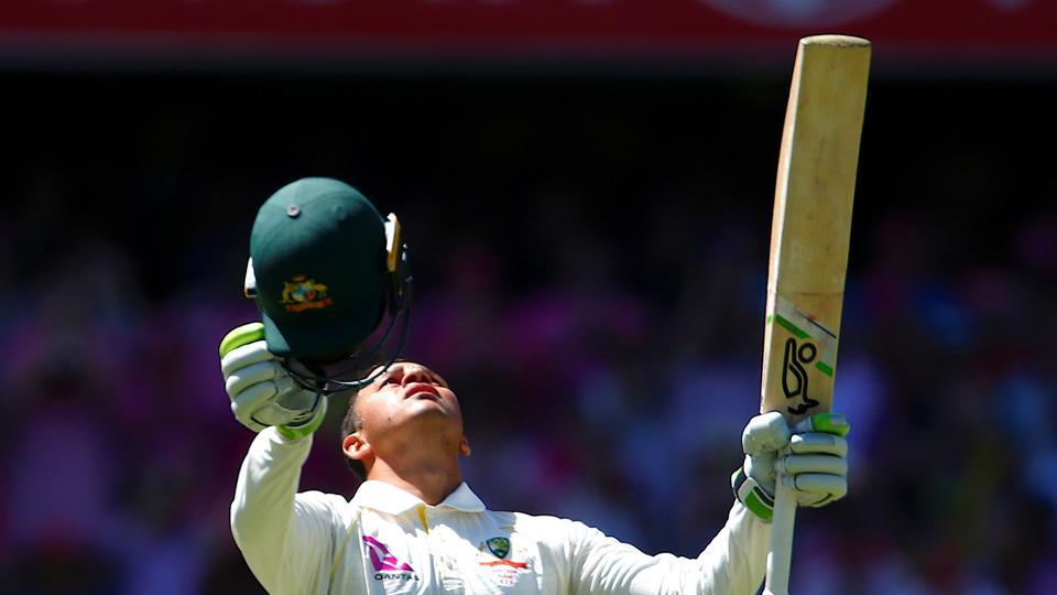 The left-handed batsman Khawaja brought up his maiden Ashes century and sixth in Tests.  (REUTERS)