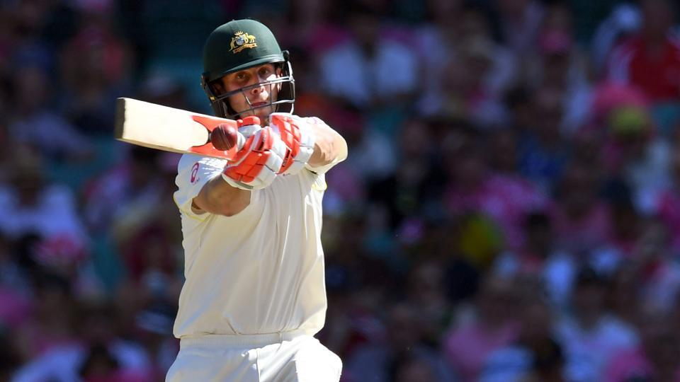 Mitchell Marsh accelerated in the closing stages of the day and slammed a half-century.  (AFP)