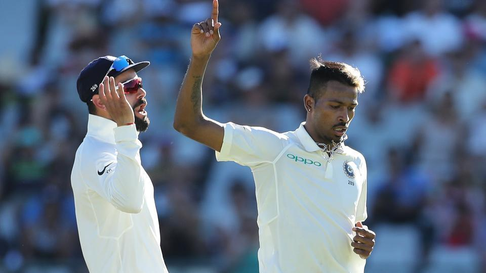 Hardik Pandya sent back Dean Elgar but South Africa ended the day with a lead of 142. (BCCI)