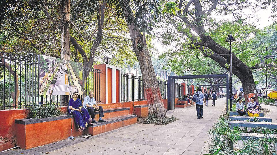 The renovated footpath of Jungli Maharaj road in Pune sees residents from all walks of life using the place for relaxation.