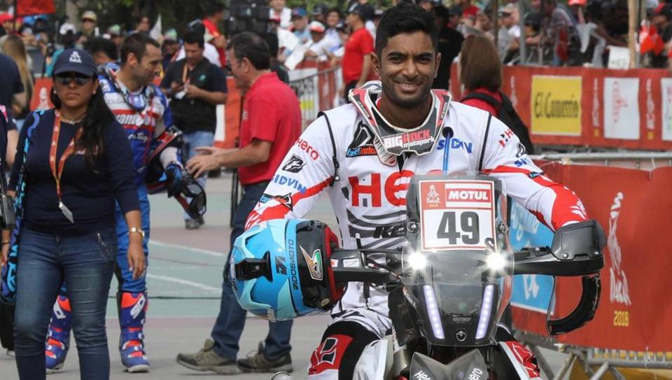 CS Santosh,Dakar Rally,Hero MotoSports