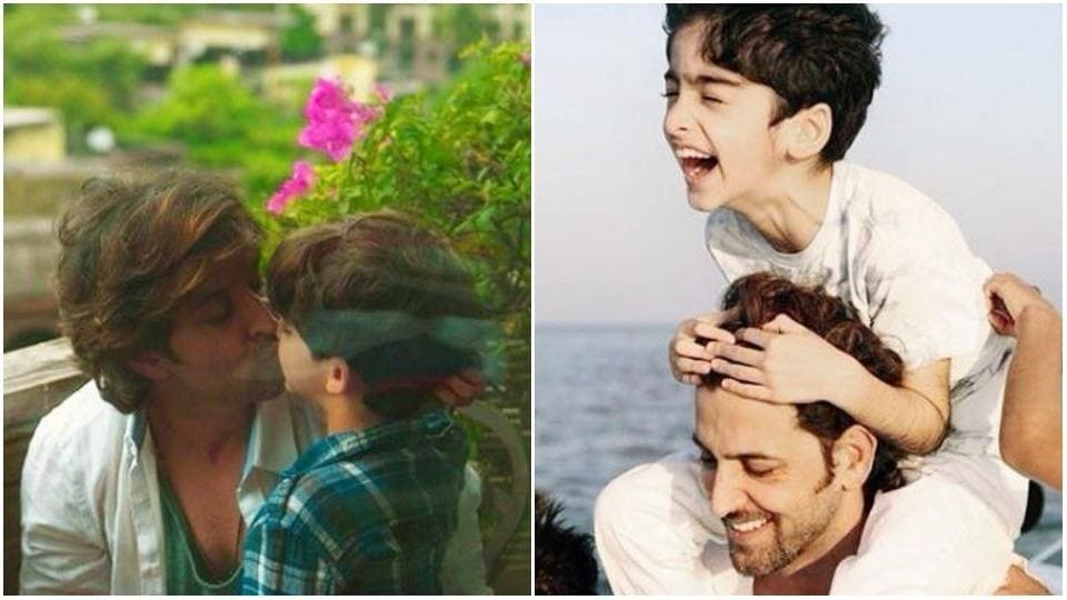 Hrithik Roshan is always posting pictures with his two sons.