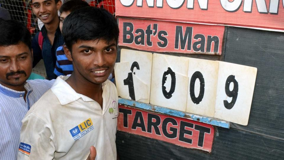 Pranav Dhanawade had scored 1009 runs in an innings in January 2016, which was the highest score in any officially recognised cricket game.