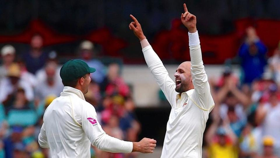 Australia's Nathan Lyon celebrates after bowling out England's Alastair Cook during the 4th day of the 5th Ashes Test. Get full cricket score of Australia vs England, Ashes 5th Test, here.