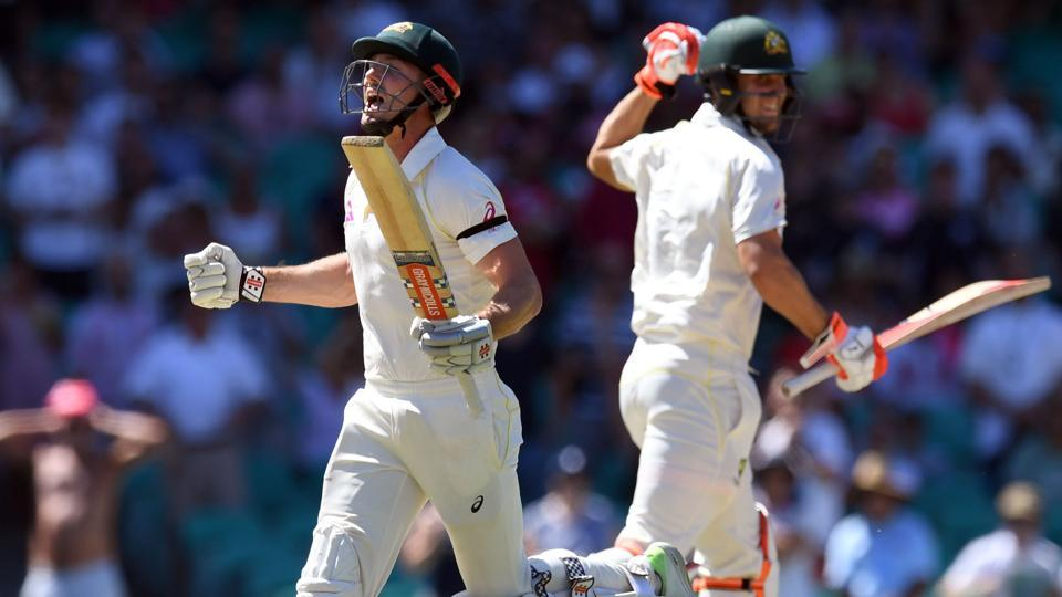 Shaun Marsh and Mitchell Marsh's centuries powered Australia to a big score and put them on course for an innings win against England in the Sydney Test. (AFP)
