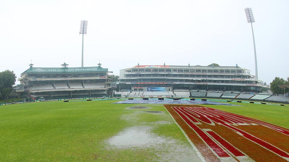 South Africa were set to resume their second innings on 65/2, with an overall lead of 142, but rain prevented any play.  (BCCI )