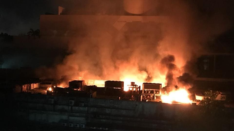 Cinevista Studio,Mumbai fire,Kanjurmarg