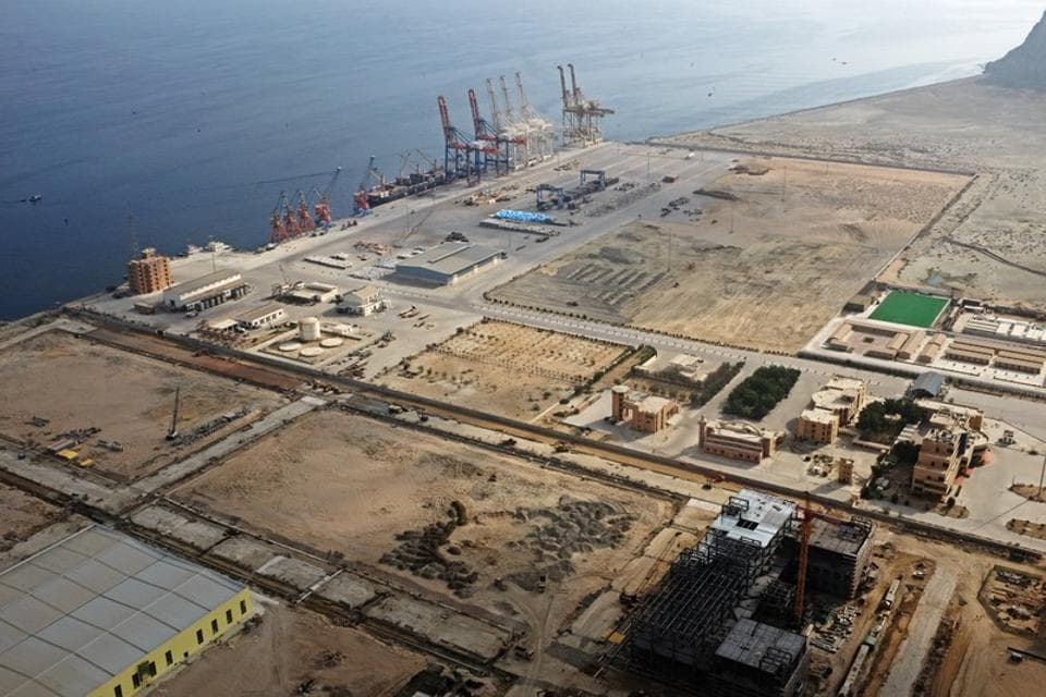 A general view of Gwadar Port in Pakistan on October 4, 2017.