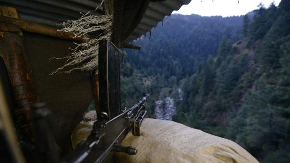 A view from the bunker of an Indian Army post on the LoC.