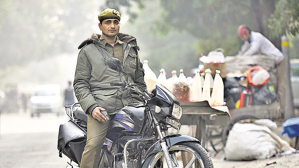Rahul Kumar, one of the environment marshals who has not been given an ID for his new role.