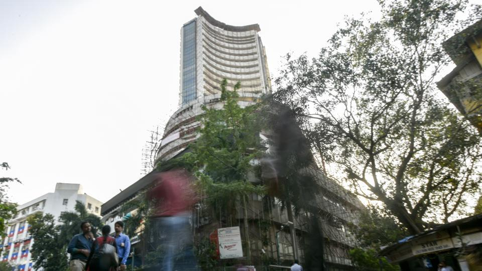 The Bombay Stock Exchange (BSE)  in Mumbai.