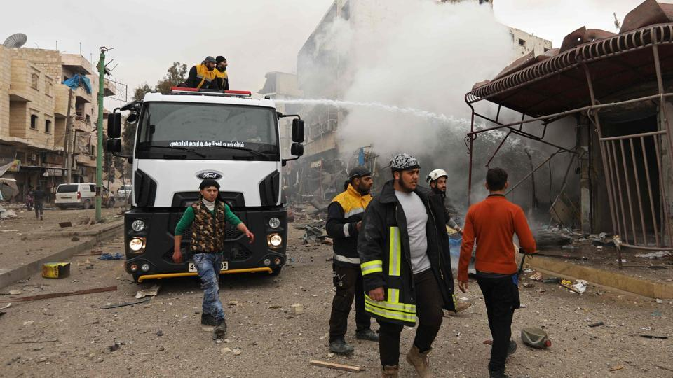 The Syrian Observatory for Human Rights said the explosion targeted the headquarters of an opposition faction in Idlib.