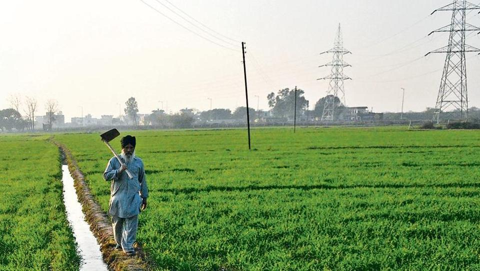Baldev Singh, a farmer in Bakarpur village near Aerocity Road, says authorities are forcing them to accept land pooling scheme, but they want money in return.