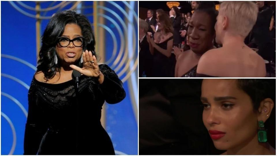 Oprah's powerful words moves many stars and guests to tears.
