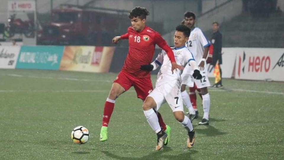 Shillong Lajong defeated Indian Arrows in their I-League clash in Shillong on Monday.