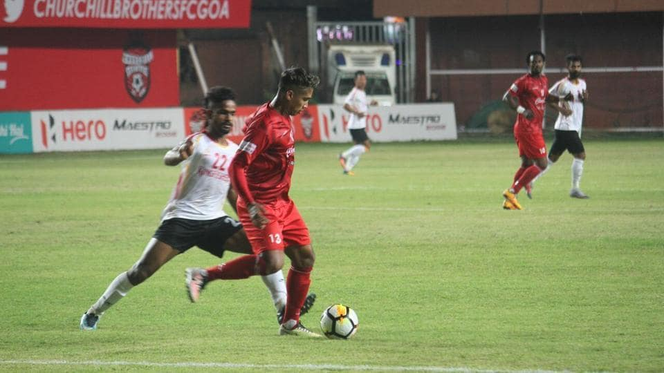 Churchill Brothers equalised in the 75th minute to secure a draw against East Bengal in the I-League on Monday.