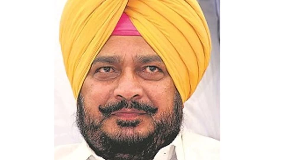 Sadhu Singh Dharamsot, Punjab's minister for welfare of Scheduled Castes and Backward Classes